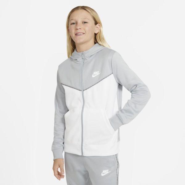 Nike Sportswear Sudadera con capucha con cremallera de entrenamiento - Niño - Gris