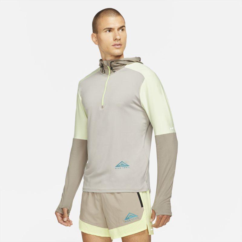 Nike Dri-FIT Trail Camiseta de trail running con media cremallera - Hombre - Gris