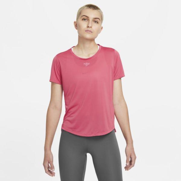 Nike Dri-FIT One Camiseta de manga corta de ajuste estándar - Mujer - Rosa