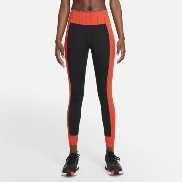 Nike Dri-FIT One Luxe Icon Clash Leggins de 7/8 de talle medio - Mujer - Negro
