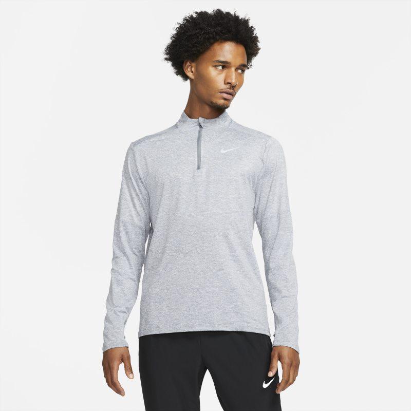 Nike Dri-FIT Camiseta de running con media cremallera - Hombre - Gris