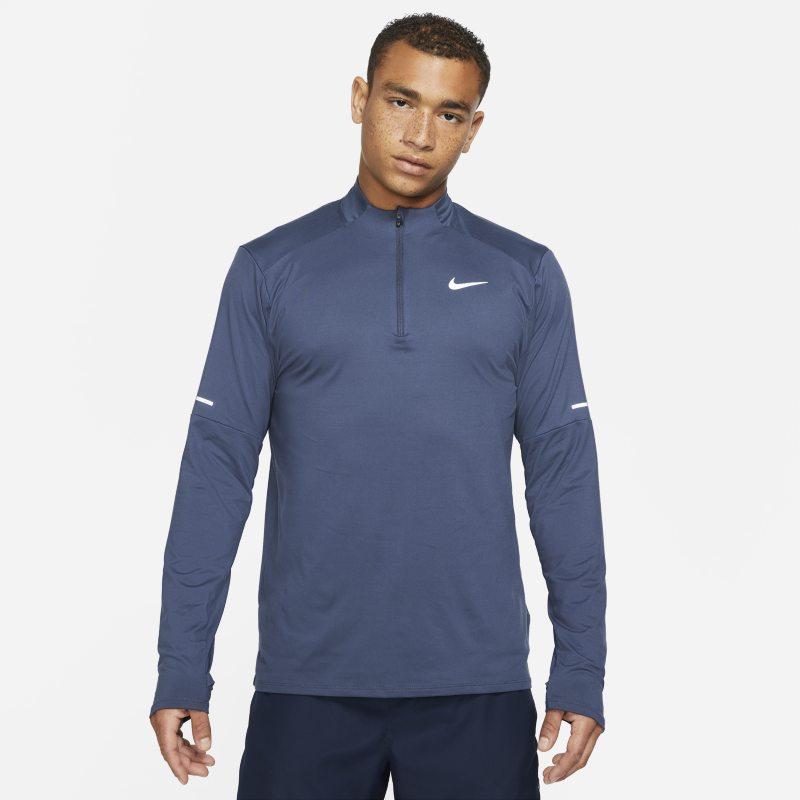 Nike Dri-FIT Camiseta de running con media cremallera - Hombre - Azul