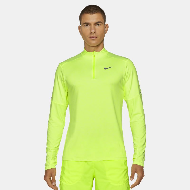Nike Dri-FIT Camiseta de running con media cremallera - Hombre - Amarillo