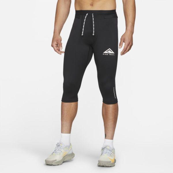 Nike Dri-FIT Mallas de trail running de 3/4 - Hombre - Negro