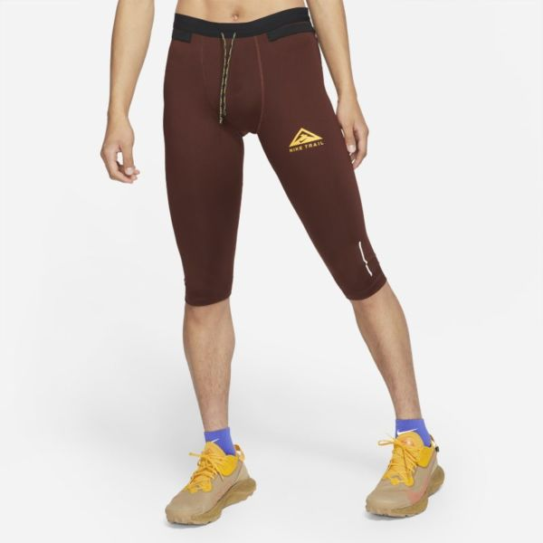 Nike Dri-FIT Mallas de trail running de 3/4 - Hombre - Marrón