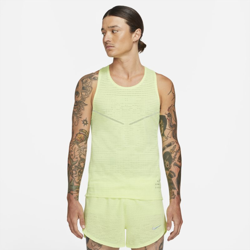 Nike Dri-FIT ADV Run Division Camiseta de tirantes de running - Hombre - Amarillo