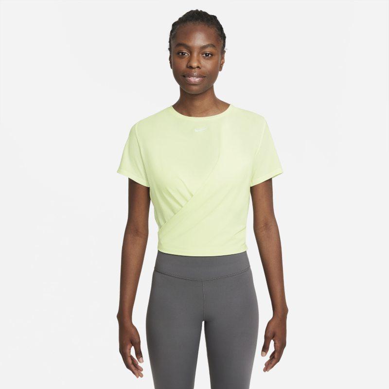 Nike Dri-FIT One Luxe Camiseta de manga corta de ajuste estándar retorcida - Mujer - Verde