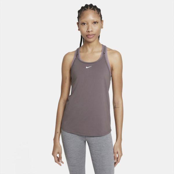 Nike Dri-FIT One Luxe Camiseta de tirantes con ajuste entallado - Mujer - Marrón