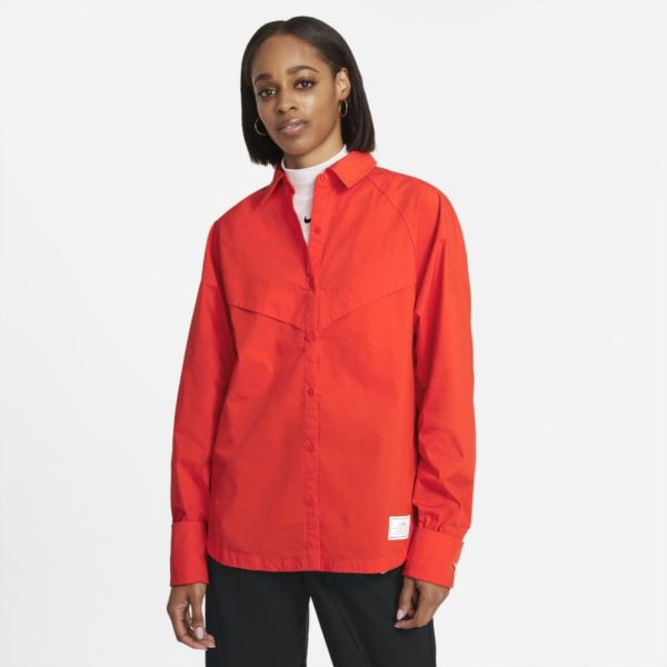 Nike Sportswear Icon Clash Camiseta de manga larga - Mujer - Rojo