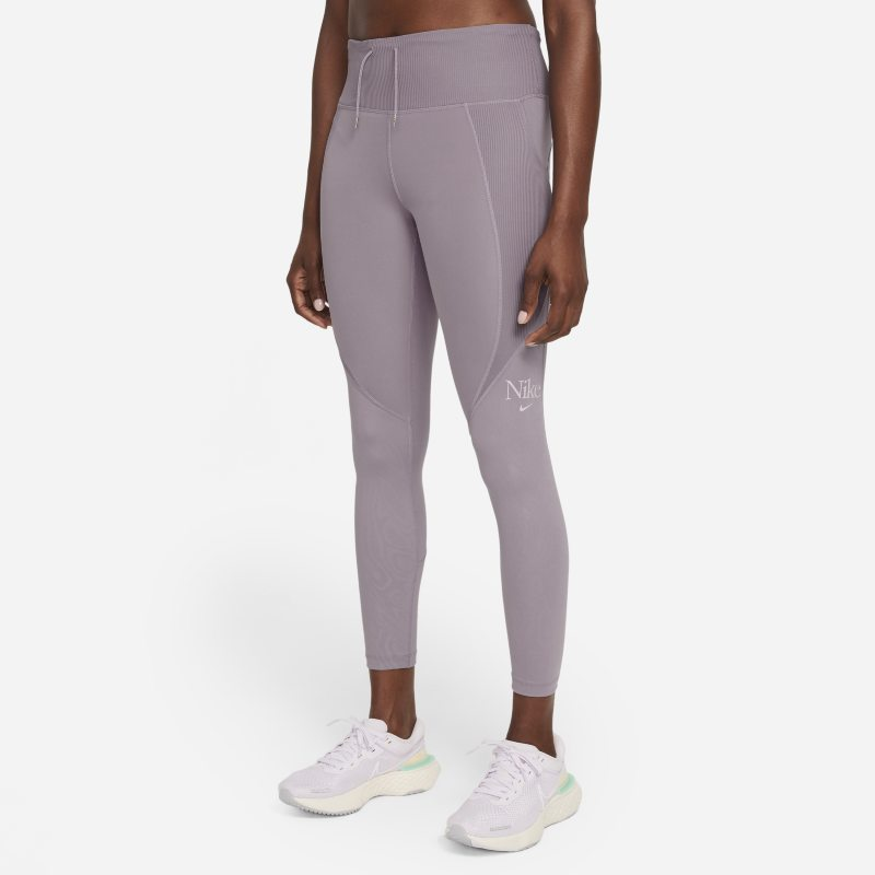 Nike Dri-FIT Femme Fast Leggings de running de 7/8 - Mujer - Morado