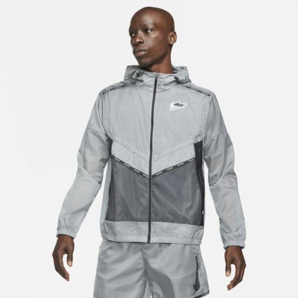 Nike Repel Wild Run Windrunner Chaqueta de running con estampado - Hombre - Gris