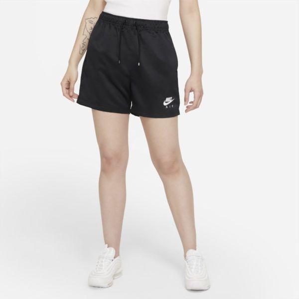 Nike Air Pantalón corto de talle alto de tejido Woven - Mujer - Negro
