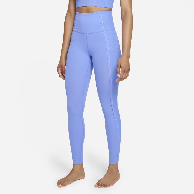 Nike Yoga Luxe Dri-FIT Leggings de 7/8 con Infinalon y cintura alta - Mujer - Azul