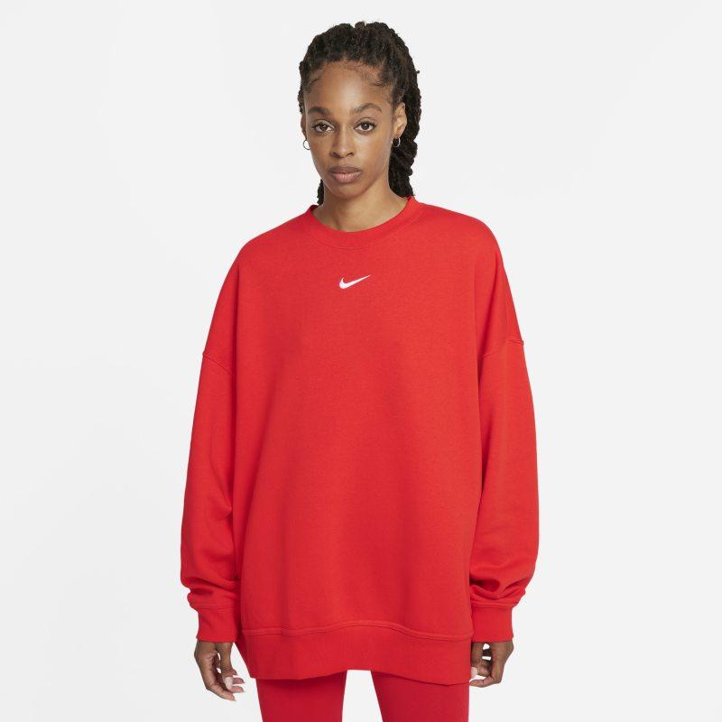 Nike Sportswear Collection Essentials Sudadera oversize de tejido Fleece - Mujer - Rojo