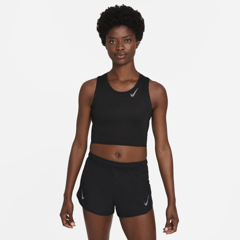 Nike Dri-FIT Race Camiseta corta de tirantes de running - Mujer - Negro