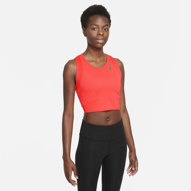 Nike Dri-FIT Race Camiseta corta de tirantes de running - Mujer - Rojo