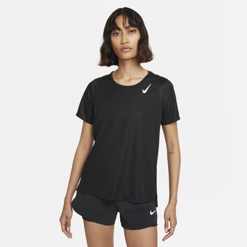 Nike Dri-FIT Race Camiseta de running de manga corta - Mujer - Negro