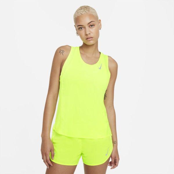 Nike Dri-FIT Race Camiseta de running - Mujer - Amarillo