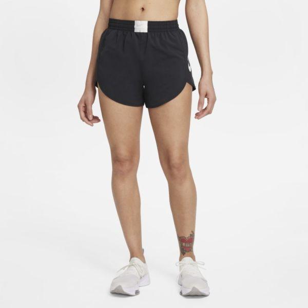 Nike Dri-FIT Retro Pantalón corto de running con malla interior - Mujer - Negro