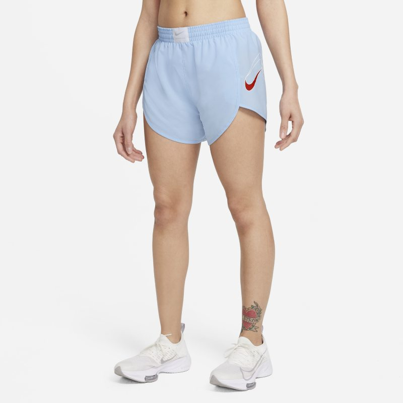 Nike Dri-FIT Retro Pantalón corto de running con malla interior - Mujer - Azul