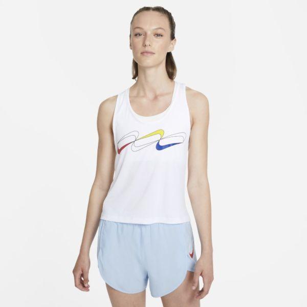Nike Dri-FIT Retro Camiseta de running - Mujer - Blanco