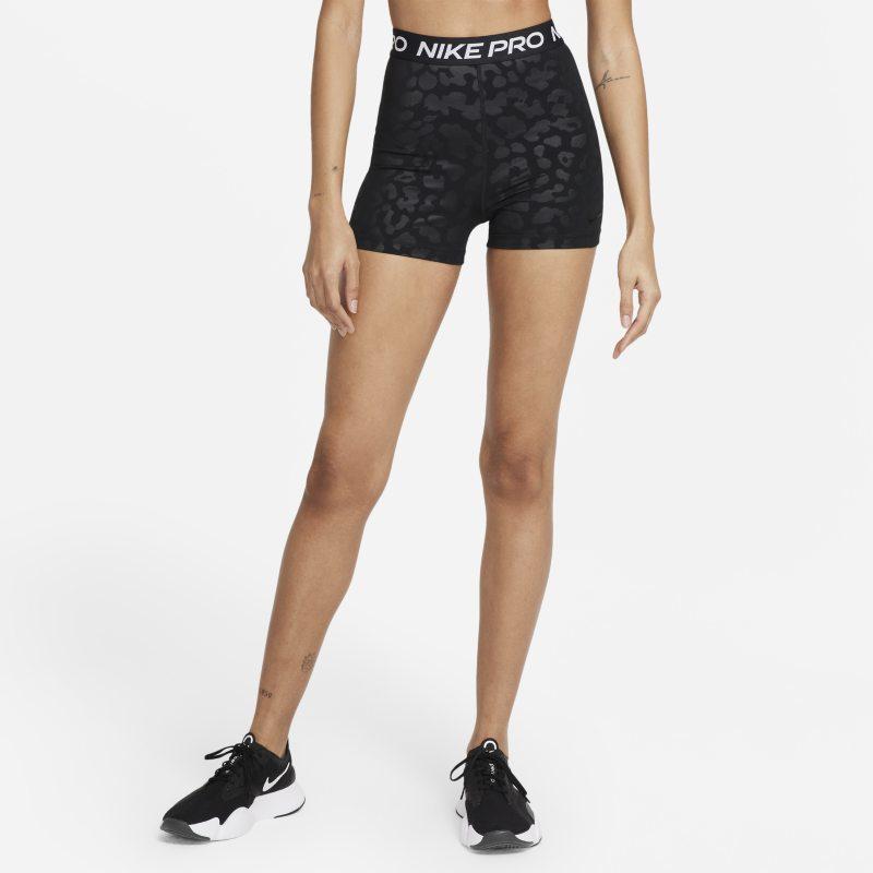 Nike Pro Dri-FIT Pantalón corto con estampado y talle alto de 8cm - Mujer - Negro