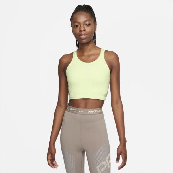 Nike Pro Dri-FIT Camiseta de tirantes corta con sujetador incorporado - Mujer - Verde
