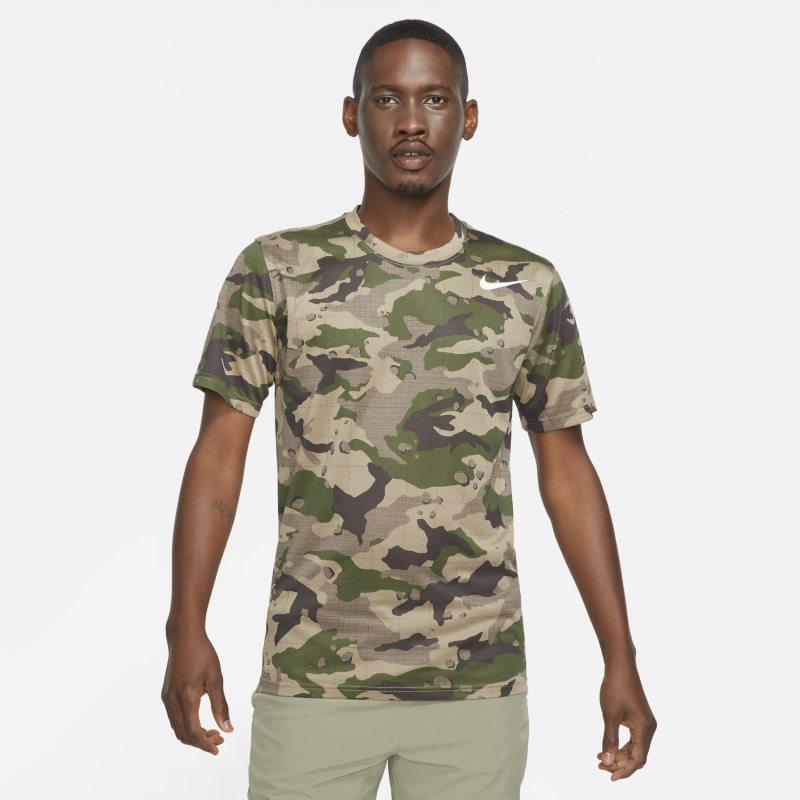 Nike Dri-FIT Camiseta de entrenamiento con estampado de camuflaje - Hombre - Marrón
