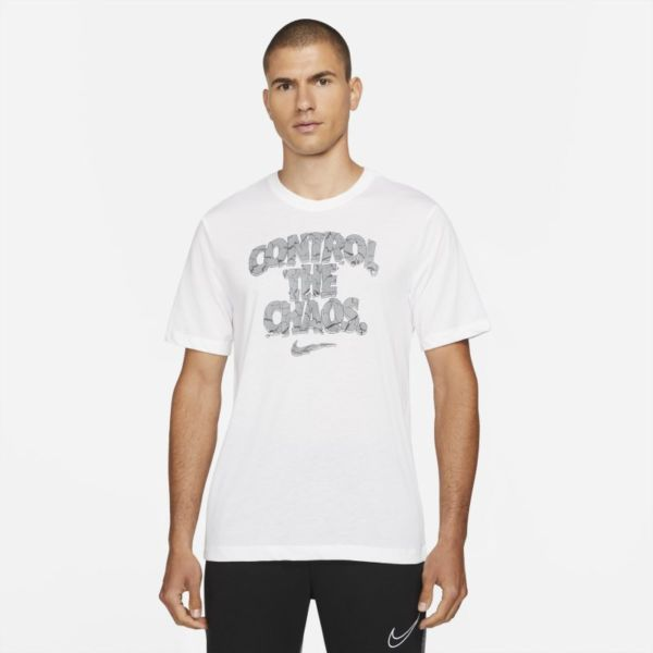Nike Dri-FIT Camiseta de entrenamiento con estampado - Hombre - Blanco