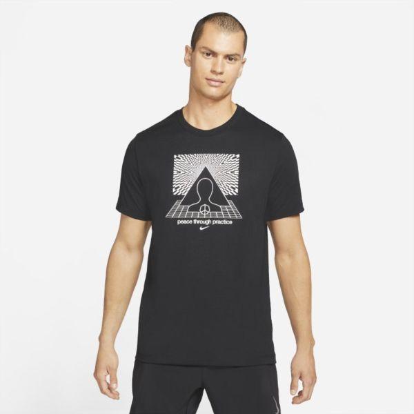 Nike Yoga Dri-FIT Camiseta con estampado - Hombre - Negro