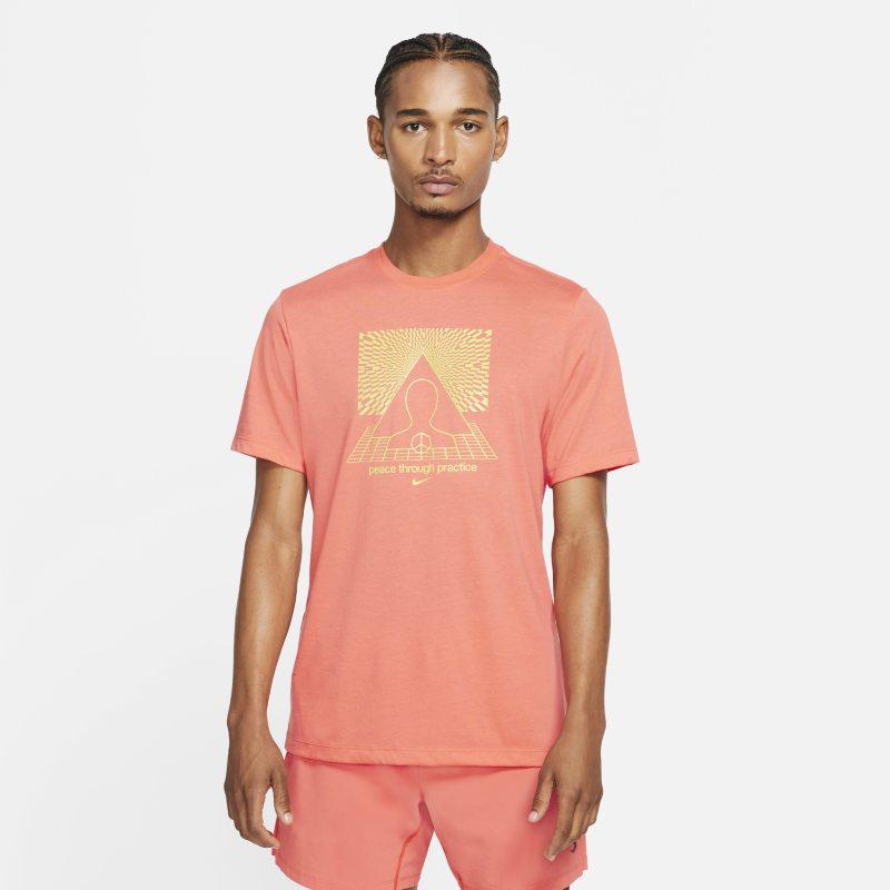 Nike Yoga Dri-FIT Camiseta con estampado - Hombre - Naranja