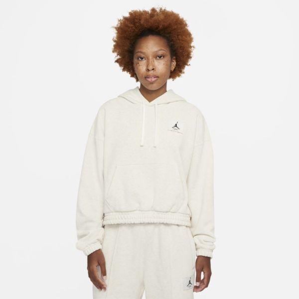 Jordan Essentials Sudadera con capucha de tejido Fleece - Mujer - Blanco