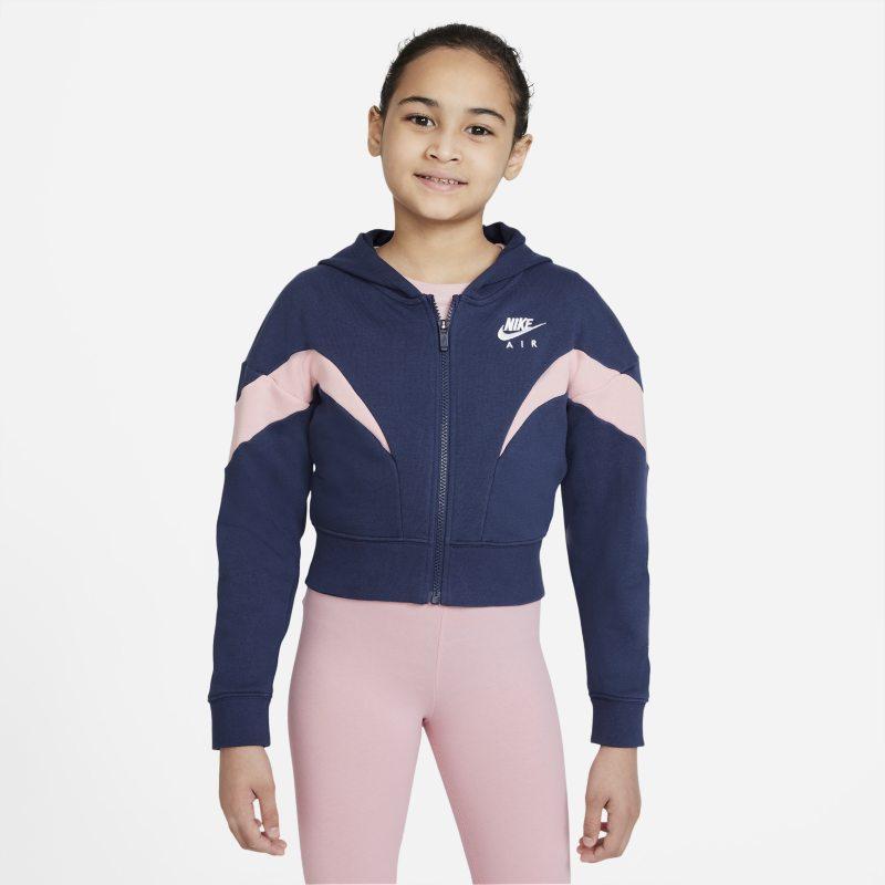 Nike Air Sudadera con capucha con cremallera completa - Niña - Azul