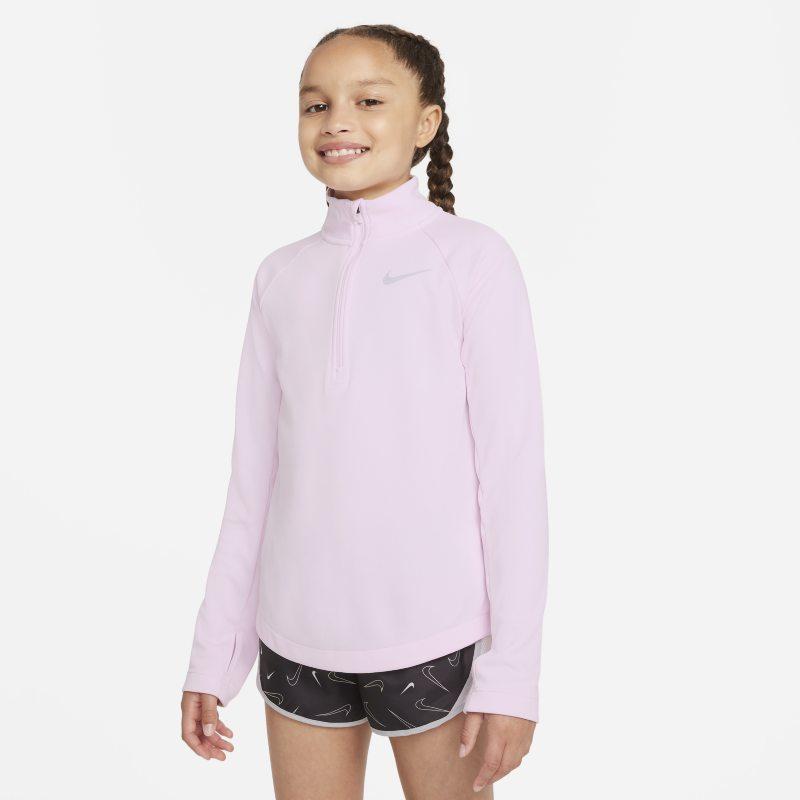 Nike Dri-FIT Camiseta de running de manga larga - Niña - Rosa