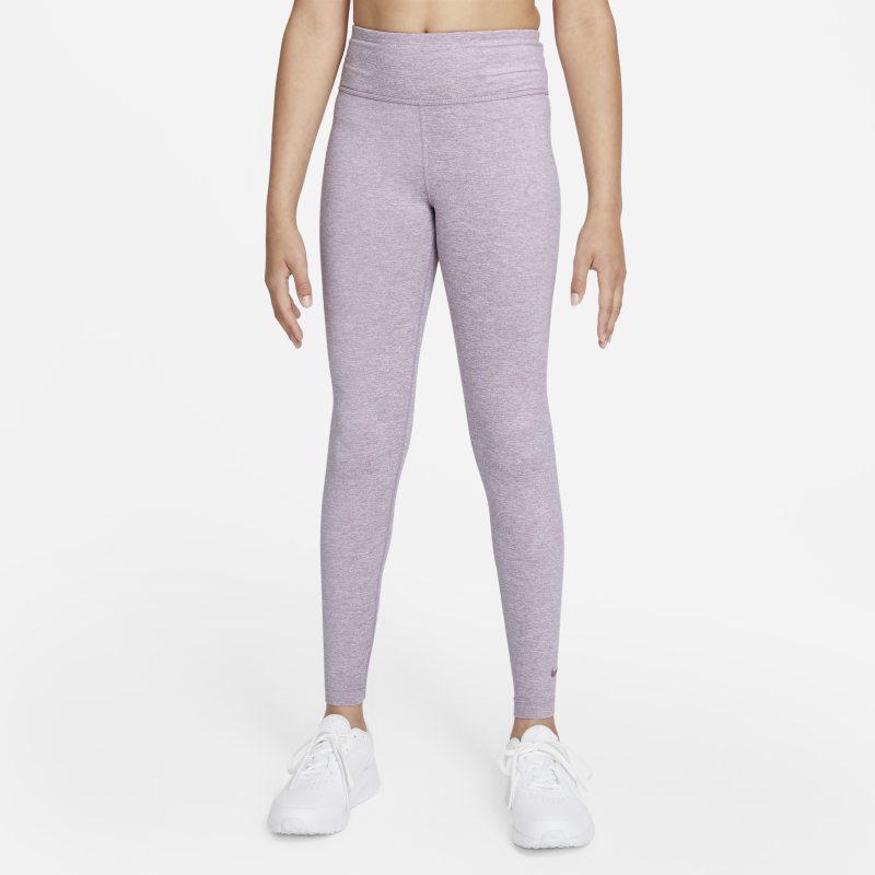 Nike Dri-FIT One Luxe Leggings de talle alto - Niña - Morado