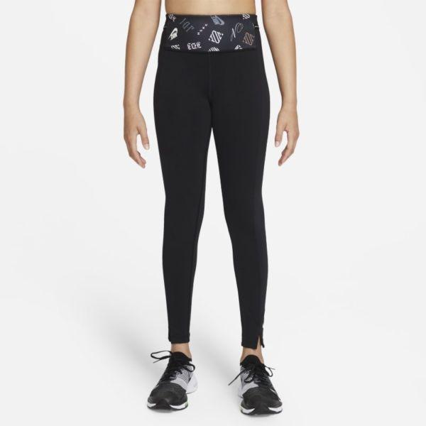 Nike Dri-FIT One Luxe Leggings con estampado - Niña - Negro
