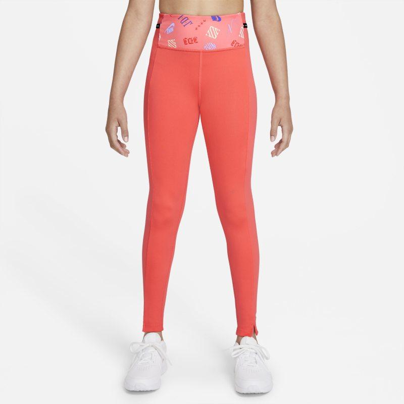 Nike Dri-FIT One Luxe Leggings con estampado - Niña - Naranja