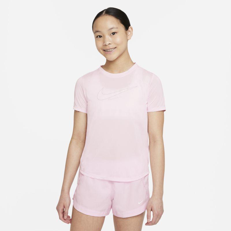 Nike Dri-FIT One Camiseta de entrenamiento de manga corta - Niña - Rosa