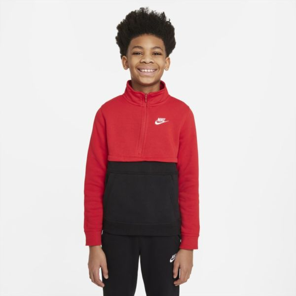 Nike Sportswear Club Camiseta con media cremallera - Niño - Rojo