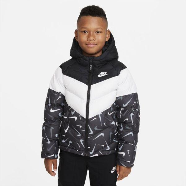 Nike Sportswear Therma-FIT Chaqueta con estampado y relleno sintético - Niño/a - Negro
