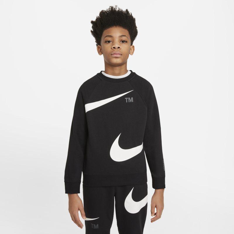 Nike Sportswear Swoosh Sudadera sin capucha - Niño - Negro