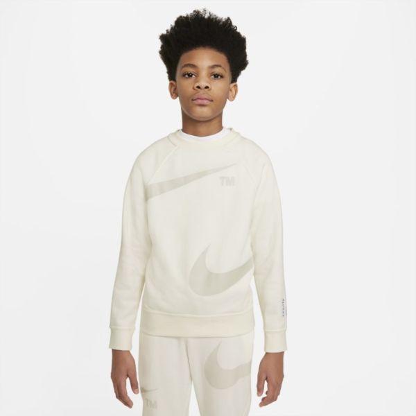Nike Sportswear Swoosh Sudadera sin capucha - Niño - Gris