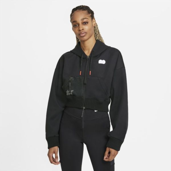 Naomi Osaka Sudadera de tenis de tejido Fleece - Mujer - Negro