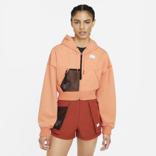 Naomi Osaka Sudadera de tenis de tejido Fleece - Mujer - Naranja