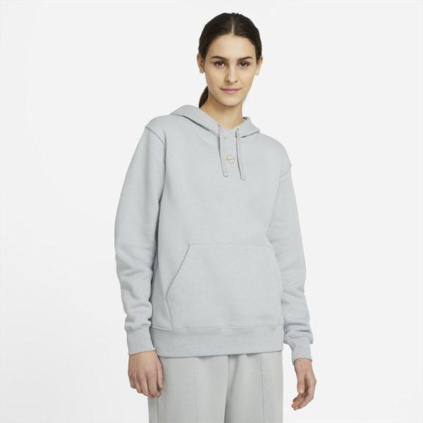Nike Sportswear Sudadera con capucha de tejido Fleece - Mujer - Gris