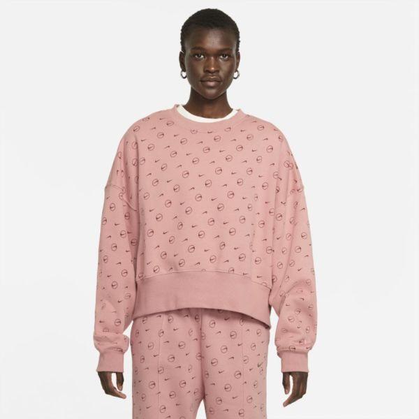 Nike Sportswear Sudadera de tejido Fleece con estampado - Mujer - Rosa