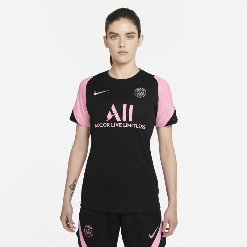 París Saint-Germain Strike Away Camiseta de fútbol de manga corta Nike Dri-FIT - Mujer - Negro