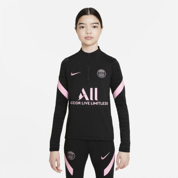París Saint-Germain Strike Away Camiseta de fútbol de entrenamiento Nike Dri-FIT - Niño/a - Negro