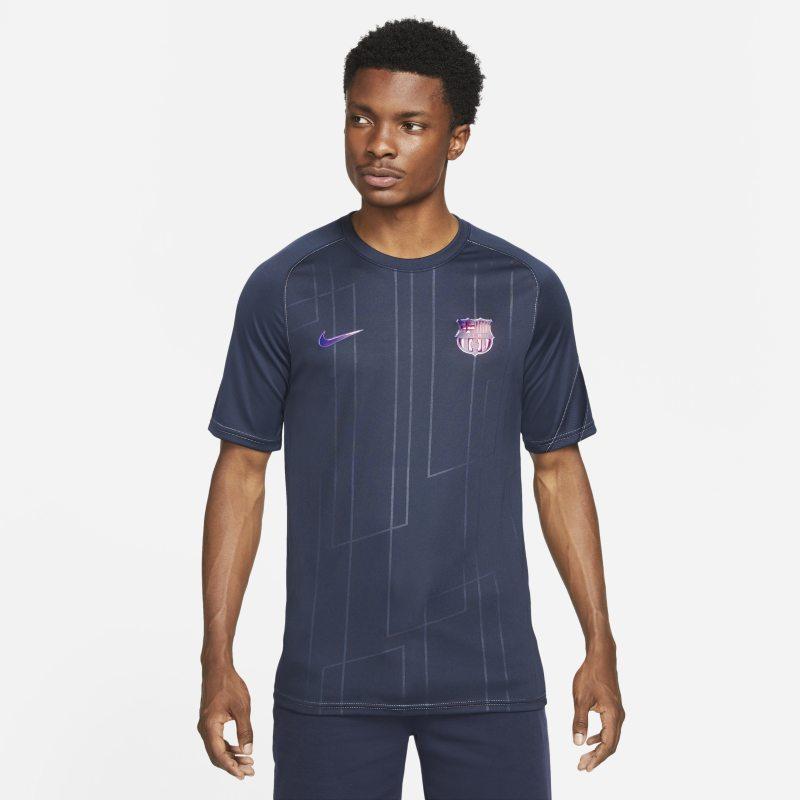 Segunda equipación FC Barcelona Camiseta de fútbol para antes del partido Nike Dri-FIT - Hombre - Azul
