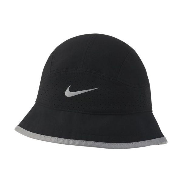 Nike Dri-FIT Sombrero tipo pescador de running con perforaciones - Negro